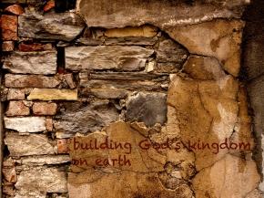 ancient broken brick wall